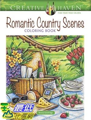 [7美國直購] 暢銷畫冊書 Creative Haven Romantic Country Scenes Coloring Book (Adult Coloring)