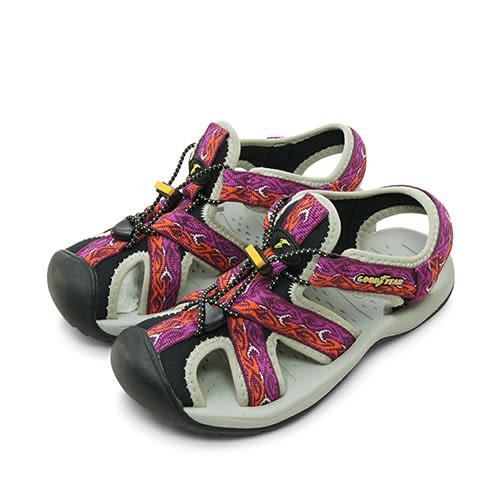 LIKA夢 GOOD YEAR 專業戶外踏青旅遊護趾運動涼鞋 桃灰黑 72603 女