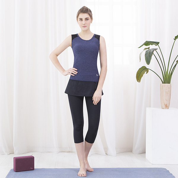 *╮寶琦華Bourdance╭*專業瑜珈韻律芭蕾★假兩件七分褲【Y19175】