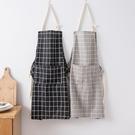圍裙 夏季韓版簡約時尚圍裙女防油污圍腰罩衣成人男廚房做飯工作服 寶貝計畫 618狂歡