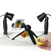 小型靜物攝影棚拍照柔光燈LED補光燈黃金銀首飾手串攝影射燈   聖誕節歡樂購