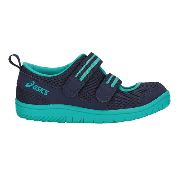 ASICS AMPHIBIAN7 [TUS121-400] 中童鞋 運動 慢跑 休閒 魔鬼氈 亞瑟士 藍