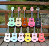 21寸彩色尤克里里初學者小吉他ukulele烏克麗麗夏威夷四弦琴女生 igo初語生活館