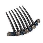 買一送一 韓國發梳插梳簡約水鉆發插發簪劉海梳花朵發飾頭飾盤發飾碎發夾