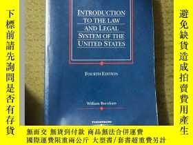 二手書博民逛書店INTRODUCTION罕見TO THE LAW AND LEGAL SYSTEM OF THE UNITED S
