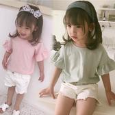 荷葉小飛袖短袖上衣 橘魔法 Baby magic 現貨 中童 童裝 女童 短袖 上衣