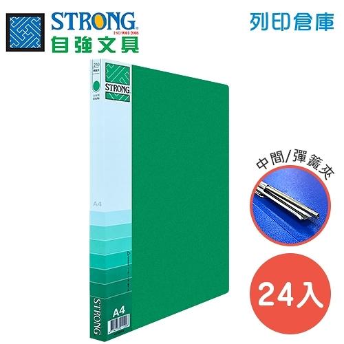 STRONG 自強 210(PP) 中間彈簧夾-綠 24入/箱