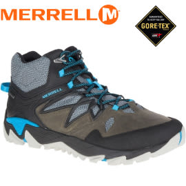 【MERRELL 美國 男款ALL OUT BLAZE 2 MID GORE-TEX 多功能健行鞋《灰/藍》】ML09385/休閒鞋/健行★滿額送