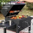 捕食者燒烤爐家用木炭別墅庭院燒烤架戶外5人以上大號美式熏烤bbq NMS小艾新品