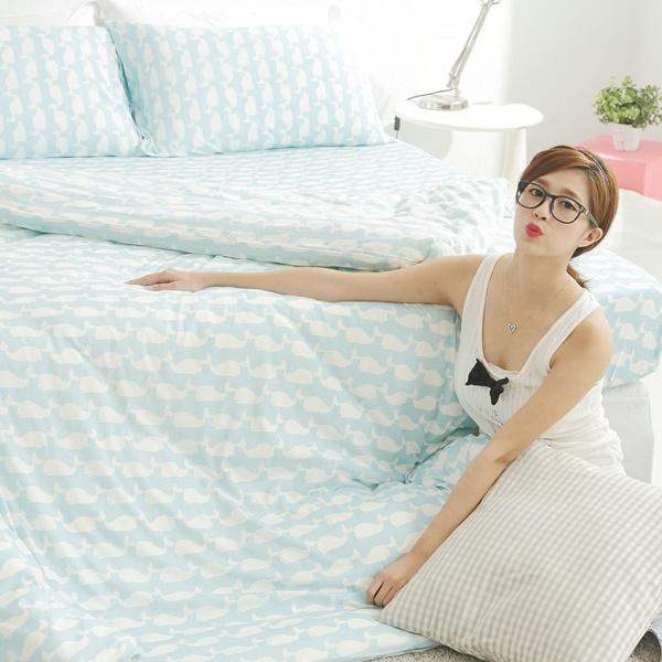 #KC001#新款上市100%純棉針織床包被套雙人四件組/全棉/新疆棉/天竺棉