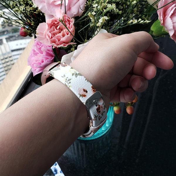 小米手環4 小米手環3 花朵 皮質 手錶帶 舒適 時尚 腕帶 替換錶帶 智慧錶帶 無異味 小米手環錶帶