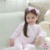 Anny pepe 粉色/白色 小立領長袖 (90~150cm)