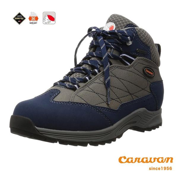 【日本Caravan】 C1_HIKE 輕中筒登山健行鞋 - 海軍藍