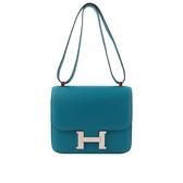 【HERMES】EPSOM皮銀釦Constance MM 24cm(藍色) HE19000069