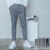 專櫃大彈力【OBIYUAN】格子褲 休閒褲 英倫風 格紋長褲  九分褲共4色【X6916】