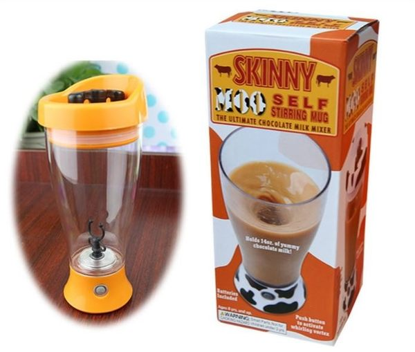 自動攪拌咖啡杯 糖果色密封吸管杯 電動攪拌杯 懶人用品【Mr.1688先生】