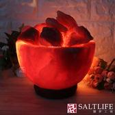 【鹽夢工場】創意造型鹽燈-6吋富貴紅聚寶盆
