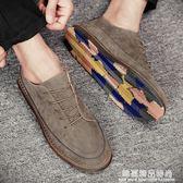 春季社會學生英倫小皮鞋男士休閒鞋潮鞋韓版百搭布洛克豆豆男鞋子