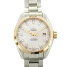 【最終低價】OMEGA 歐米茄 鑲11P鑽玫瑰金錶殼不鏽鋼腕錶 Seamaster Watch BRAND OFF