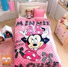 粉色米妮-保暖法蘭絨毯(大件)走進迪士尼世界【睡眠屋】