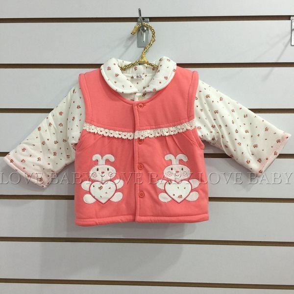 ☆╮寶貝丹童裝╭☆ 可愛 動物 造型 透氣 舒適 女童 鋪棉 厚款 長袖 3件式 套裝 新款 ☆