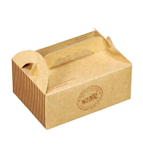 牛皮環保餐盒 手提餐盒(中) 外帶提盒 包裝紙盒【C045】 餅乾糖果紙盒 禮品包裝盒