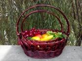 手提花籃藤編收納筐收納籃柳編水果籃雞蛋籃包裝禮品籃野餐籃 英雄聯盟3C旗艦店