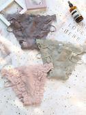 女士內褲女蕾絲性感純棉低腰火辣細帶窄邊甜美少女 歐亞時尚