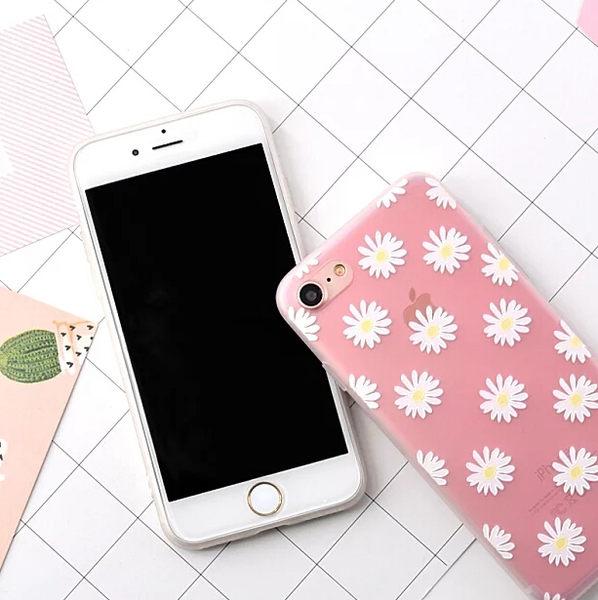 【SZ15】 iPhone 7/8 保護殼 菊花  半透明tpu軟殼 iphone 6 plus手機殼 iPhone 7/8 plus 保護殼 iphone 6s 手機殼