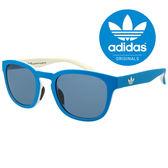 原廠公司貨-【adidas 愛迪達】經典愛迪達藍白色系三葉草LOGO太陽眼鏡/運動眼鏡#藍框灰鏡(001-027-001)