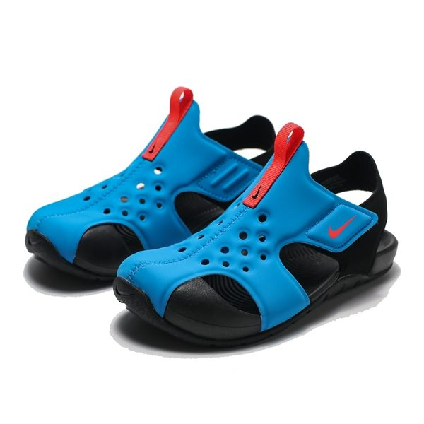 NIKE SUNRAY PROTECT 2 藍 黑 橘logo 涼鞋 中童 (布魯克林) 2019/5月 943826-400