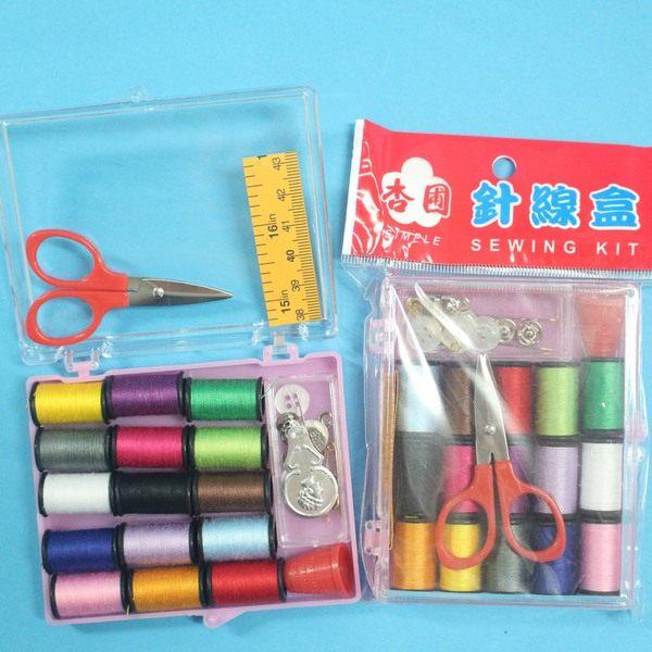 台灣製杏圃針線盒 大針線包組(透明壓克力盒)/一盒入{促40}~秉C1VQ056 智SK005