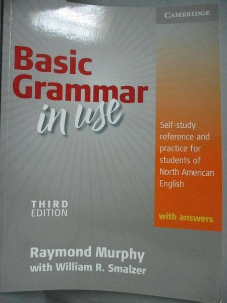 【書寶二手書T1/語言學習_YHR】Basic Grammar in Use with Answers..._Murphy