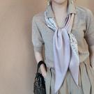 國領巾圍巾款裝飾長方巾洋氣時尚百搭細窄長條小絲巾韓版達品質潮 時尚芭莎