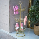 鞋架櫃 鐵藝晾鞋架室外陽臺創意擺件拖鞋架落地式曬鞋器多功能組裝晾鞋架