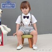 寶衣服0-1-2歲男童背帶褲嬰兒周歲禮服 優家小鋪