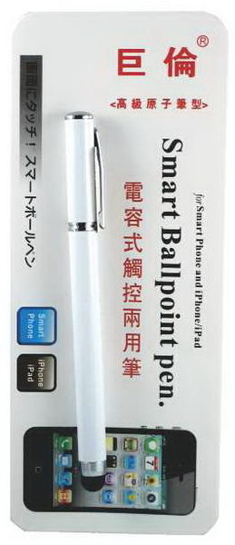 《☆享亮商城☆》A-1271 白桿 電容式觸控兩用筆(原子筆) 巨倫