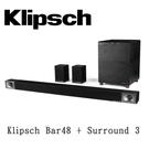 【天天限時】KLIPSCH 古力奇 5.1 聲道劇院 Bar48 + Surround 3 原廠公司貨