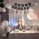 生日布置字母鋁膜氣球裝飾浪漫驚喜成人兒童周歲生日快樂派對套餐 MKS小宅女