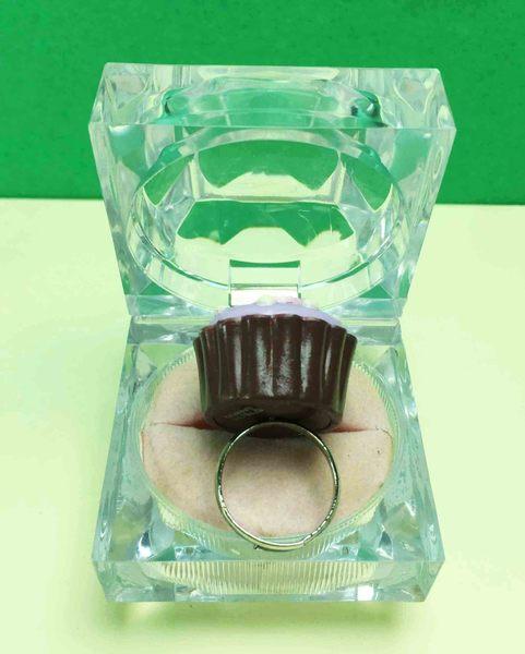 【震撼精品百貨】Hello Kitty 凱蒂貓~巧克力戒指-紫杯子