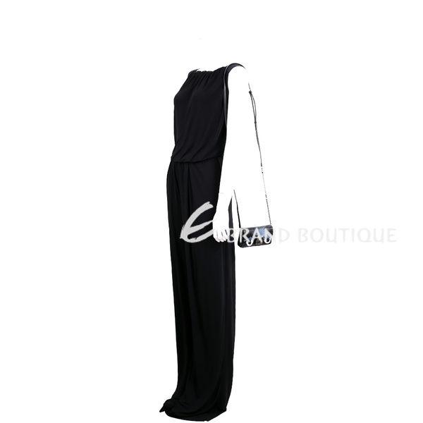 FENDI MICRO BAGUETTE 魔魔皮草鍊帶羊皮晚宴包(黑色) 1620616-01