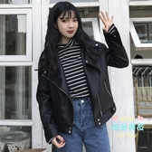 皮衣 夾克女2019初秋新款韓版學生寬鬆pu皮夾克機車短款外套長袖上衣 S-L