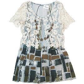 【波克貓哈日網】二件式長版上衣◇Plaisir femme ◇《罩衫+長版背心》