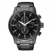 CITIZEN 星辰亞洲限定版光動能黑鋼屬計時腕錶(CA0615-59E)黑鋼/43mm