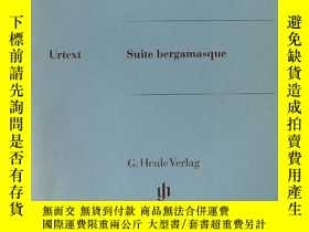 二手書博民逛書店Suite罕見bergamasque - Piano (Germany) 【德版】德彪西-貝加莫組曲(亨樂凈版)