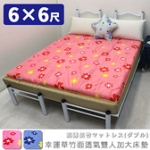 雙人加大床墊 學生床墊 雙人床墊 和室墊 《6尺幸運草竹面透氣雙人加大床墊》-台客嚴選