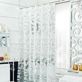 浴簾 防水加厚浴簾衛生間洗澡淋浴隔斷門簾子LJ5535『miss洛羽』