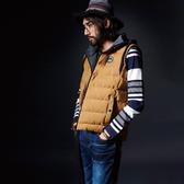 BigTrain 基本款針織帽絲棉背心-男-土黃-B4016935