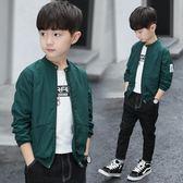 童裝男童薄外套兒童夾克開衫立領中大童韓版潮衣 伊衫風尚