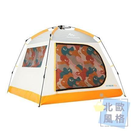 帳篷 迪卡儂帳篷戶外野營加厚露營裝備全自動速開雙人4人防曬QUNC-快速出貨